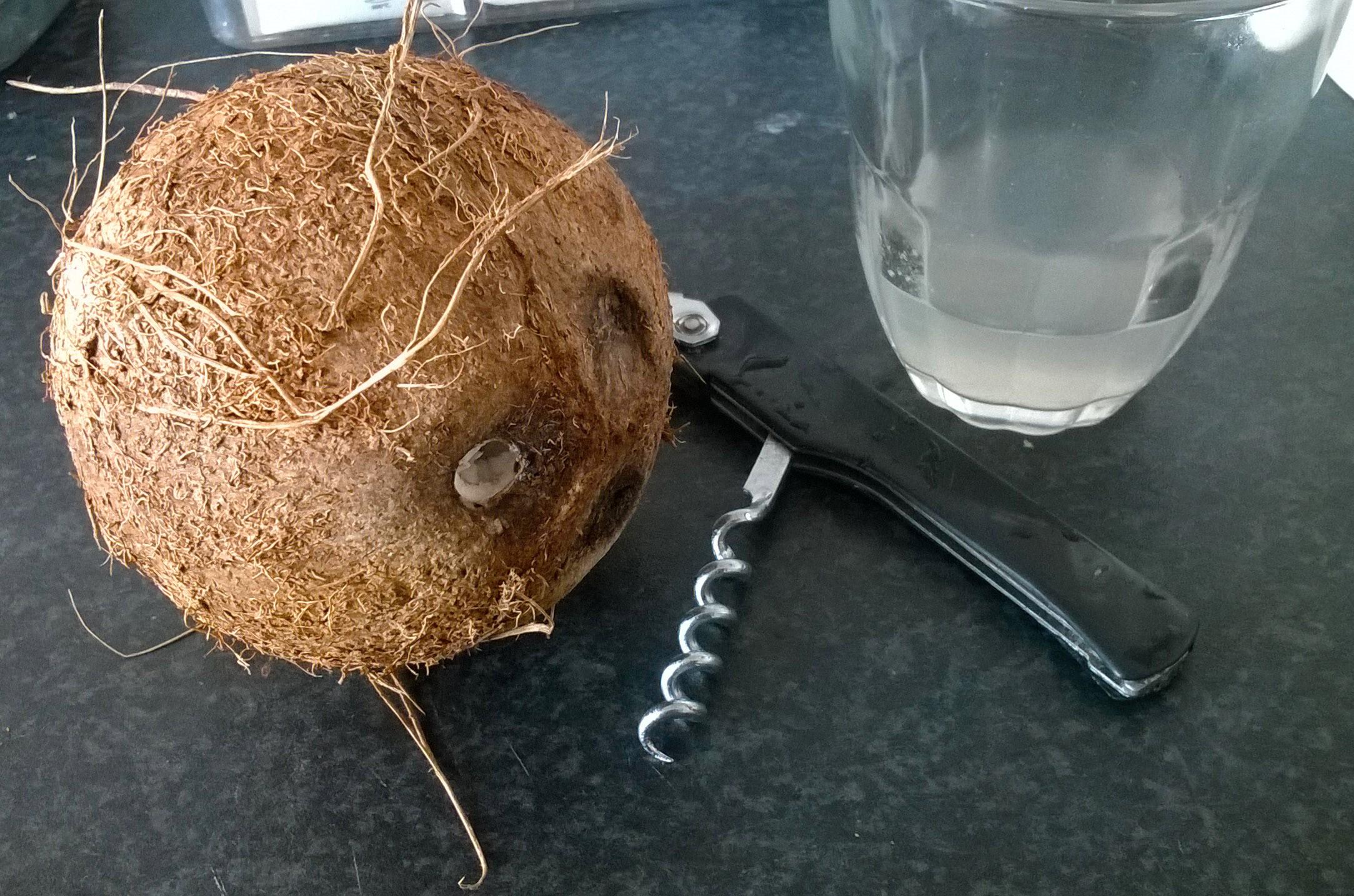 Drink w kokosie z rumem